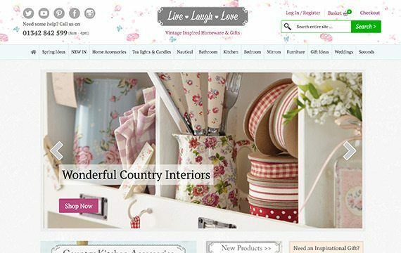 Live Laugh Love - Shabby Chic Gifts