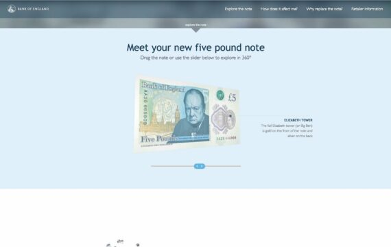 Bank of England - The New Fiver