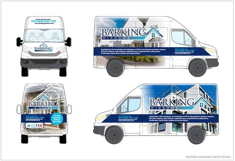 Barking Windows van livery