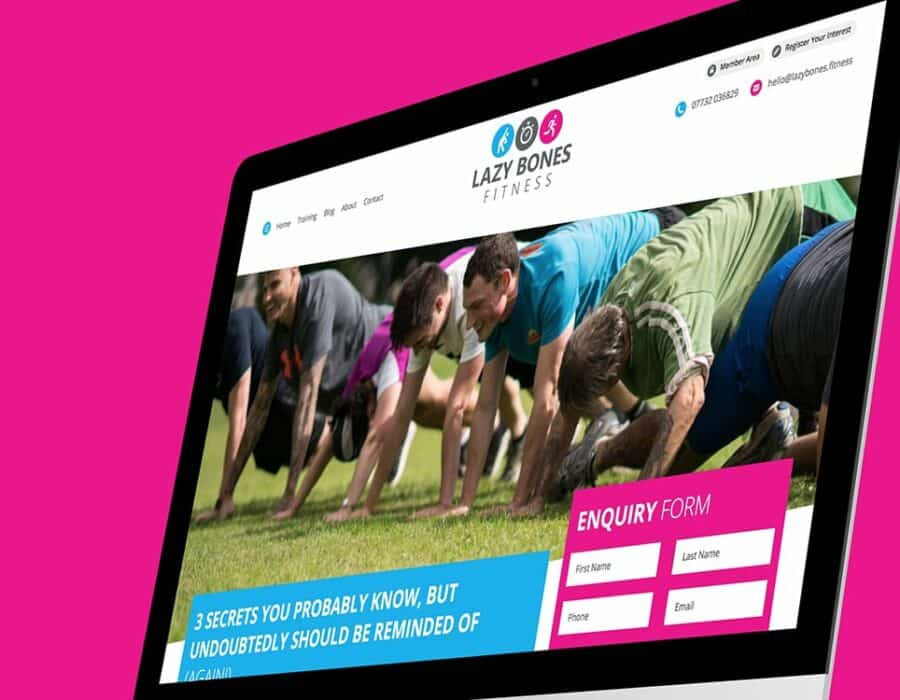 WordPress website design for Devon based health and fitness startup