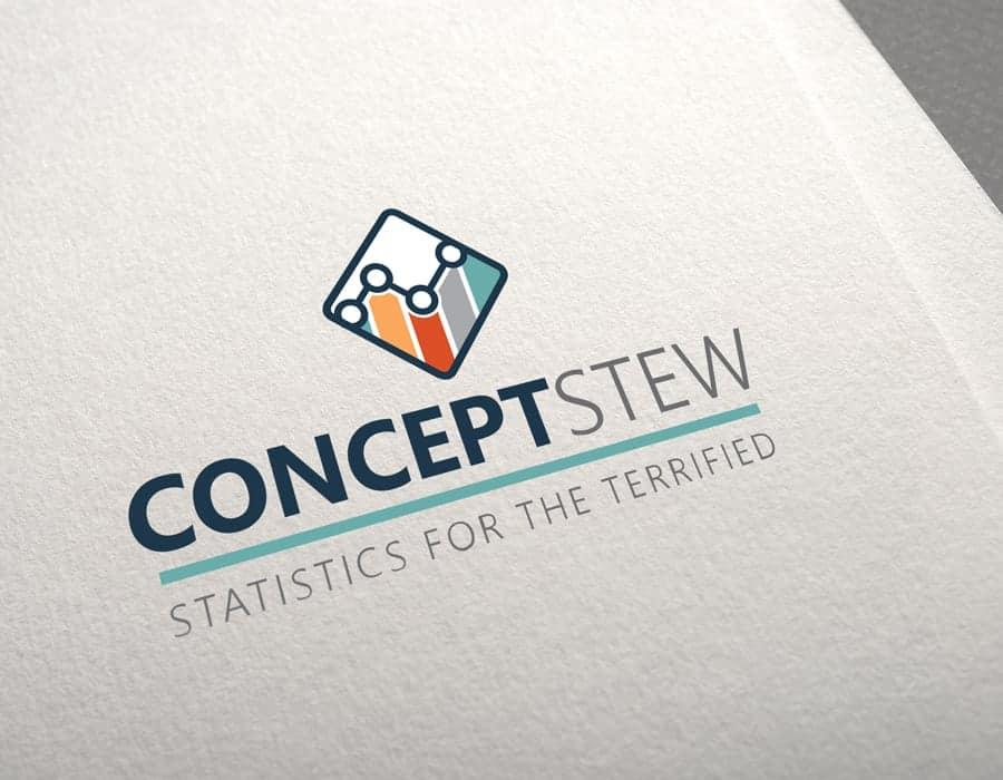 Logo redesign for professional statistics software