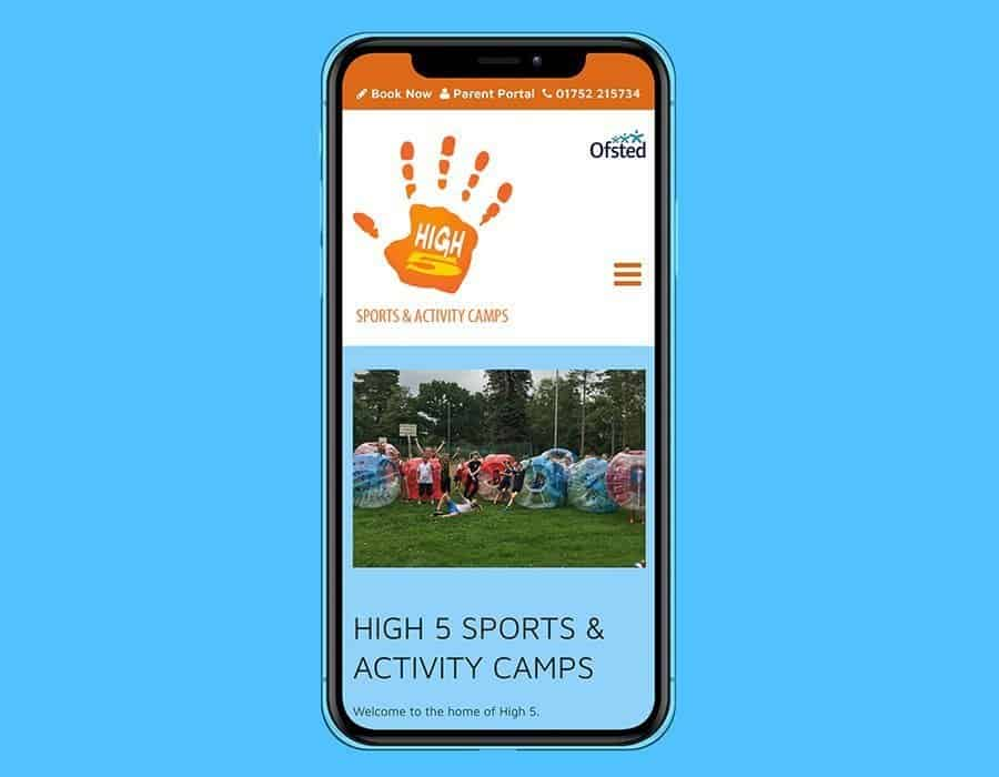 Responsive website design for Devon sports and activity camps