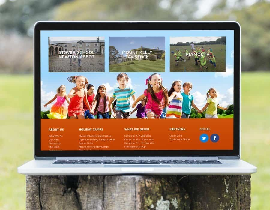 Bespoke WordPress design for sports and activity camp provider