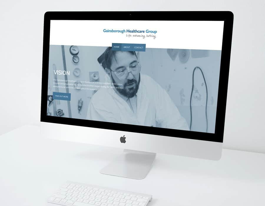Modern responsive website design for healthcare bathing group