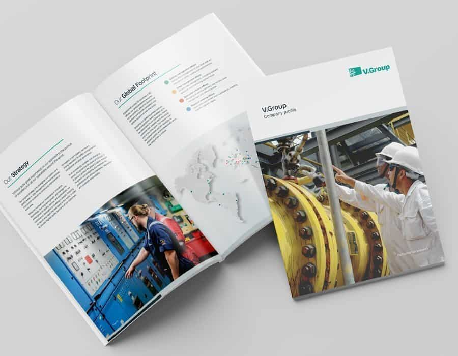 Graphic design content for leading provider of marine support solutions