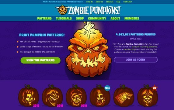 zombie pumpkin halloween