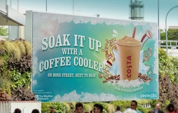 costa coffee weather ad
