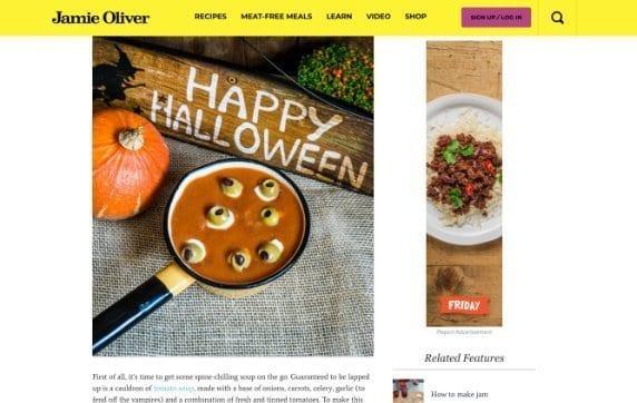 Jamie Oliver halloween