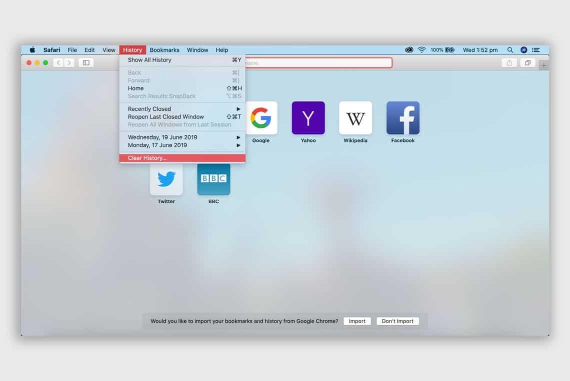Safari Desktop Browser Settings
