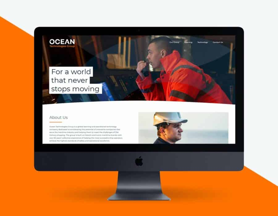 Website design for global maritime learning and operational technologies company