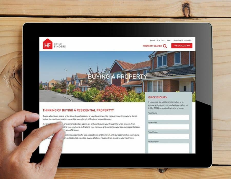 Informative website copy for Devon based estate agency.