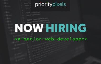 Now Hiring: Priority Pixels is seeking a Senior Web Developer!
